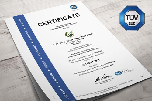 certificate ISO50001 english